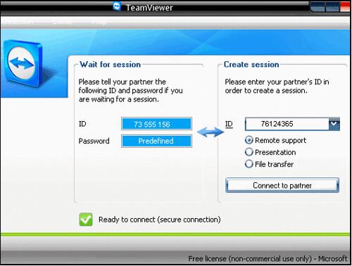 Teamviewer 3 uzak bilgisayara bağlantı programı