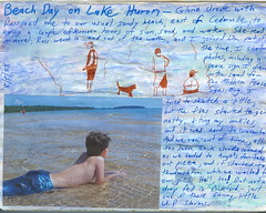 Beach journal page