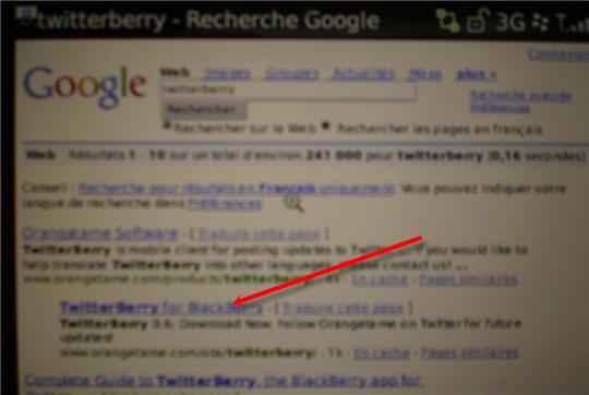 google twitterberry