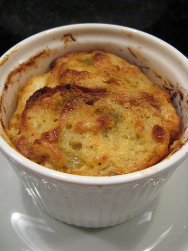 Fennel & fig goat cheese bread pudding