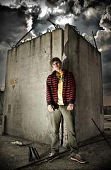 (Csheemoney) Tags: lighting light urban man building guy clouds pose concrete grey stripes grunge flash posing belgrade armature beograd rebar strobe sb80dx nemanja pesic nostrobistinfo removedfromstrobistpool seerule2