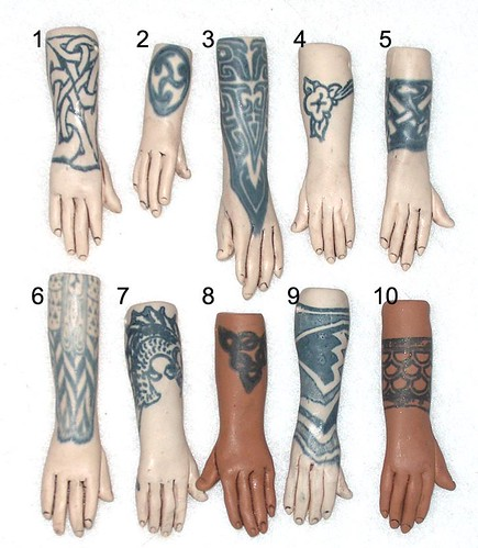 10 tattoo hands front