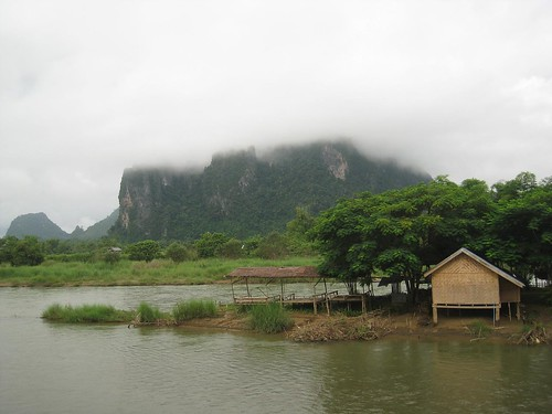 View from my porch in Vang Vieng