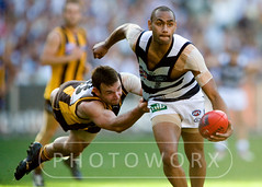 2008 AFL Grand Final Hawthorn defeated Geelong at the MCG (derrickprophoto) Tags: cats football australia melbourne grand victoria final finals 2008 grandfinal mcg hawthorn afl hawks geelong