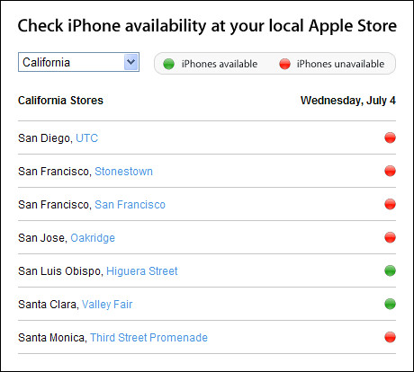 Apple iPhone Availability