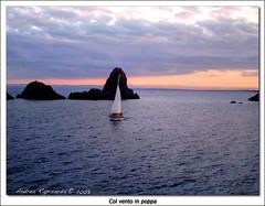 col vento in poppa (Andrea Rapisarda) Tags: sunset sea rocks tramonto mare sailing sony sicily sicilia acitrezza faraglioni platinumphoto dsch9 andrearapisarda