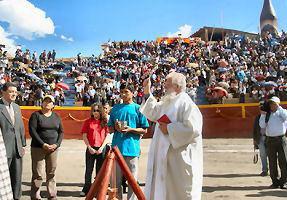 Inauguración de la plaza de toros de Huari