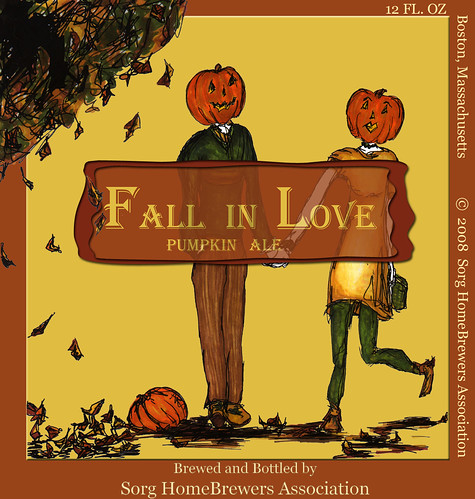 Fall in Love Pumpkin Ale Label