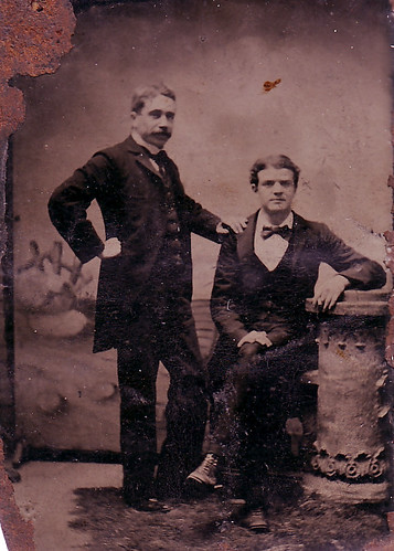 Great grandfather Charles Bloomer and his son, Peter.jpg