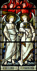 Stained glass archangels
