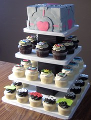 Retro Video Game Cupcake Tower