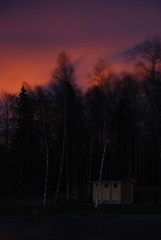 Burning Sky (- Man from the North -) Tags: trees night exposure gray shed windy nikkor gradual nikond80 p121f 18135cokin filterlong manfromthenorth