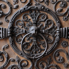 The door ring (jmvnoos in Paris) Tags: door wood paris france art church metal circle square nikon iron doors cathedral head metallic circles gothic lion churches cathedrals notredame cathdrale heads 100views metalwork porte notre dame gothique notredamedeparis mtal circular bois fer tte cercle ttes portes d300 circulaire cercles mtallique cathdrales 10faves mtalliques jmvnoos