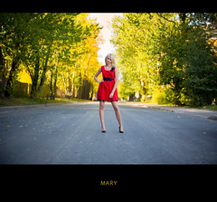 From summer archive (Geshpanets) Tags: red summer girl 50mm dress outdoor 5d 5014 canonef50mmf14usm