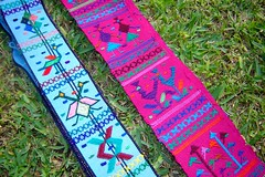Handwoven Fajas (Belts) from Guatemala (lachapina) Tags: art america guatemala craft fabric mayan latin latino hispanic supplies guatemalan