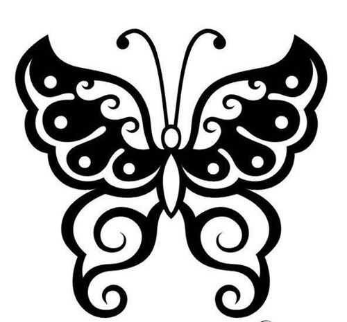 Butterfly Tribal Tattoo Designs by Tattoo-Design-Gallery