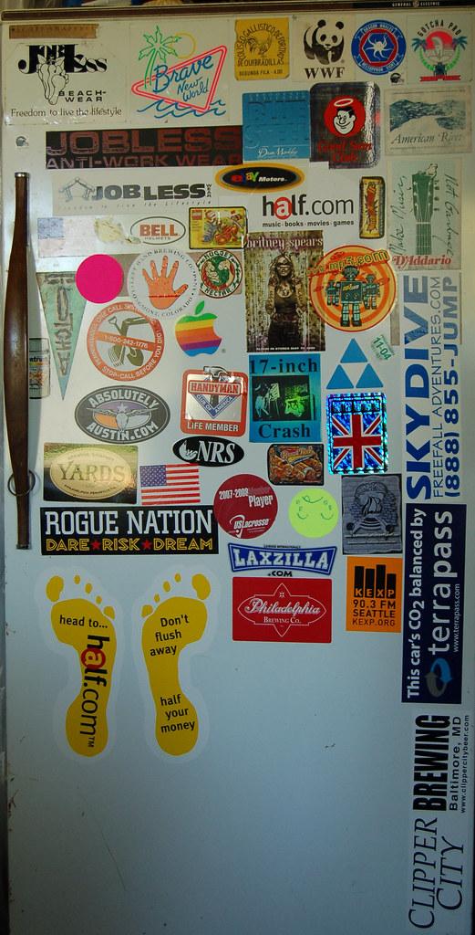 Beer Fridge Sticker Door
