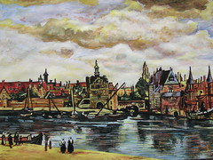 Vermeer's 'View of Delft'. (davidezartz) Tags: blue light red sky people brown white black holland macro green dutch yellow skyline clouds buildings reflections river painting fun boats nikon artist shadows view thenetherlands cities delft structure painter vermeer tradition baroque topographic copy thehague visualart treatment mauritshuis technicolour e3100 johannesvermeer southholland nikone3100 masterly janvermeer passionphotography nikonstunninggallery fineartphotos iloveyourart abigfave anawesomeshot impressedbeauty infinestyle diamondclassphotographer flickrdiamond 16321675 dutchgoldenage theunforgettablepictures watercolourgouache platinumheartaward betterthangood theperfectphotographer goldstaraward flickrestrellas artgalleryandmuseums viewofdelft quarzoespecial rubyphotographer damniwishidtakenthat kunstplatzlinternational lesamisdupetitprince dragondaggerphoto conciseness 16591660