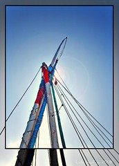 sail - شراع (Lalla Khafaga) Tags: blue red sea sky sun art water river photography boat photo sailing sail شمس سماء شراع مركب نهر مياة