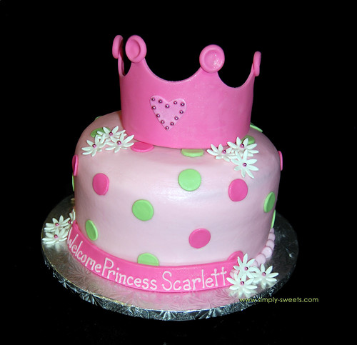 baby shower cakes for girls. Princess Baby Shower Cake,