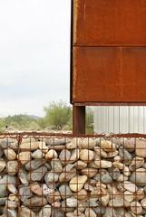 DSC05986 (hellothomas) Tags: stone rust desert library corten gabion desertbroomlibrary richärdbauer