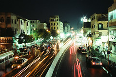 Cairo (Peter Gutierrez) Tags: photo africa african egypt egyptian egyptians cairo urban city town street streets people person walk walker walkers pedestrian pedestrians pavement sidewalk traffic merchant merchants business businesses shop shops market markets building buildings night nighttime evening dark light lights peter gutierrez petergutierrez nocturne nocturnal nacht notte noche nuit public old ancient film photograph photography