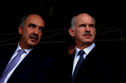 Vangelis Meimarakis and Giorgos Papandreou
