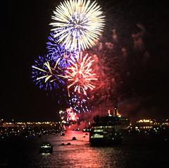 QE2 fireworks (grey0beard) Tags: cruise ship fireworks farewell southampton queenelizabeth2 cunard qe2 liner