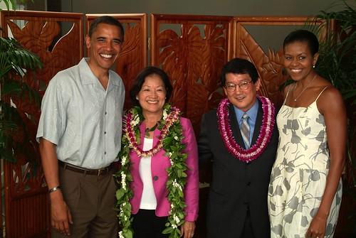 Obama + MKH + LO + Michelle