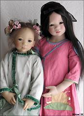 Wei Minzhi and Shilin Himstedt (MiriamBJDolls) Tags: 2003 hat doll vinyl mohair shilin limitededition 2007 asiatic annettehimstedt weiminzhi himstedtkinder summerkinder