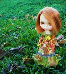Rachel loves green!! (Blythemaniaco) Tags: winter fashion vintage doll dress country moda redhead 70s campo kenner blythe miss 1972 takes seventies pelirroja vestido muñeca setentas misstakes invienrno misstakers
