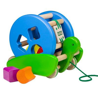 Snail Sort Roller Pull Toy from Bajo