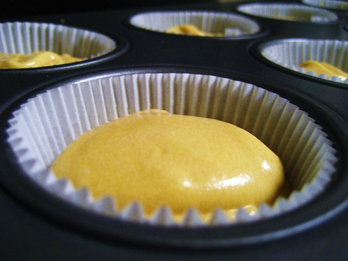 caramel cupcakes ready for the oven