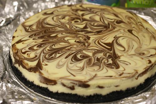Vanilla-Chocolate Swirl Cheesecake 5