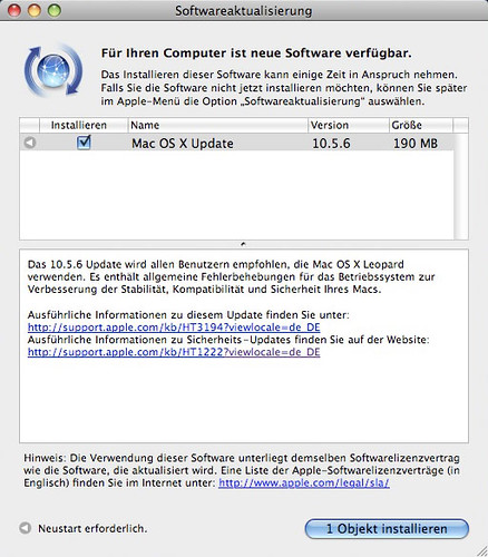 Max OS X 10.5.6