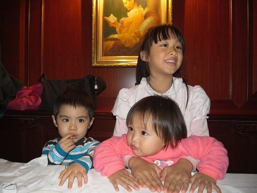 你拍攝的 三個孩子。