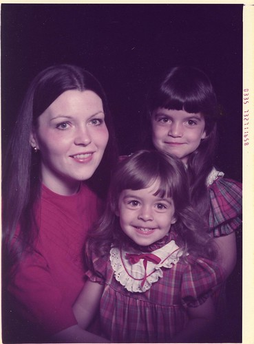 me, my sister, our mom- the plaid years