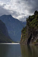 A view down the Sognefjorden in Norway.