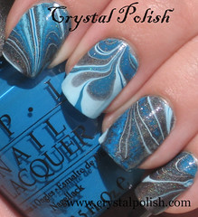 Summer Nights Water Marble (CrystalPolish) Tags: manicure opi colorclub watermarble