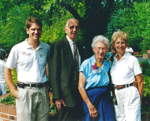 The Kochs with Frieda in 2000