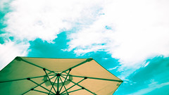 The Umbrella (Selwyn Uy) Tags: sky umbrella beachumbrella anvaya anvayacove