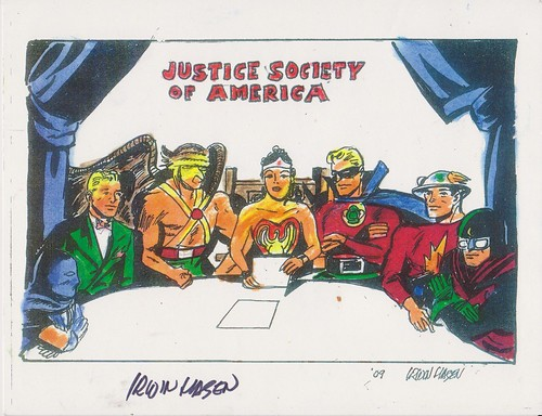 Justice Society of America by Irwin Hasen