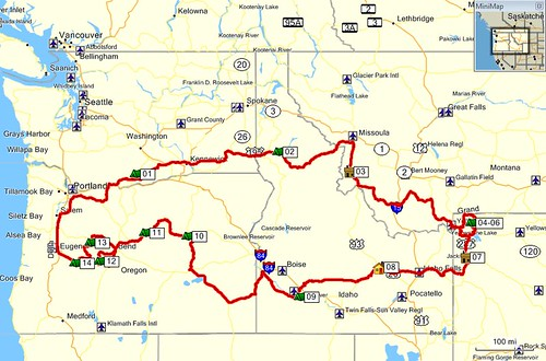 Yellowstone 2011 Route