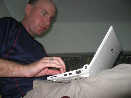 Writing...writing....writing (in bed!)