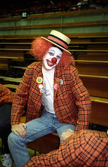Clown Man (Joe Shlabotnik) Tags: clown princeton 1989 myfave faved princetonband johnv december1989 datetaken:min=y1989m11d26 datetaken:max=y1989m12d08 heylookatthis