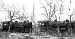 DSC_0270ps (jreidfive) Tags: road old white black abandoned danger yard train lost virginia downtown rail roanoke forgotten engines scrap