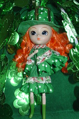 Saint Patricks's Day (raining rita) Tags: green doll handmade clothes pullip shamrocks staintpatricksday