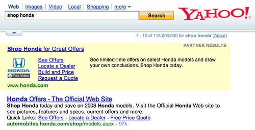 Yahoo Partner Ads
