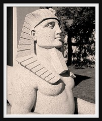 Detail: Dodge Brothers Mausoleum, Woodlawn Cemetery--Detroit MI (pinehurst19475) Tags: city urban sculpture art monochrome face cemetery stone sphinx memorial architecturaldetail michigan profile detroit tint mausoleum dodge publicart tinted woodlawn headdress pharaonic egyptianrevival neoegyptian dodgebrothers funeraryart woodlawncemetery horacedodge graveart automotivehistory johndodge automotivepioneers dodgebrothersmemorial lloydbrothers dodgebrothersmausoleum pinehurst19475