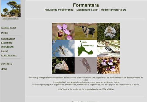Web sobre la naturaleza de Formentera
